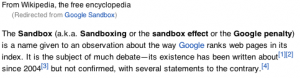 Google Panda Sandbox Q and A