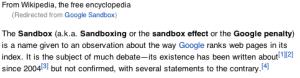 Google Panda Sandbox Q and A